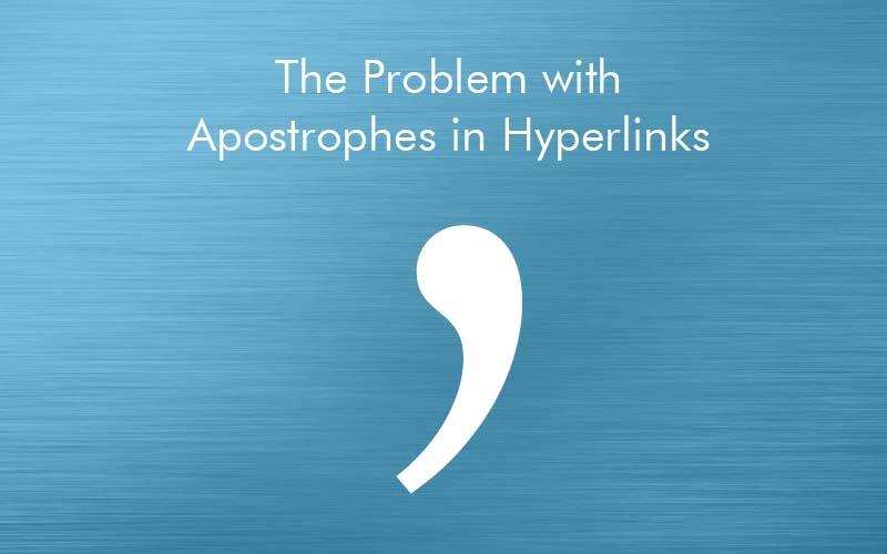 apostrophes problem