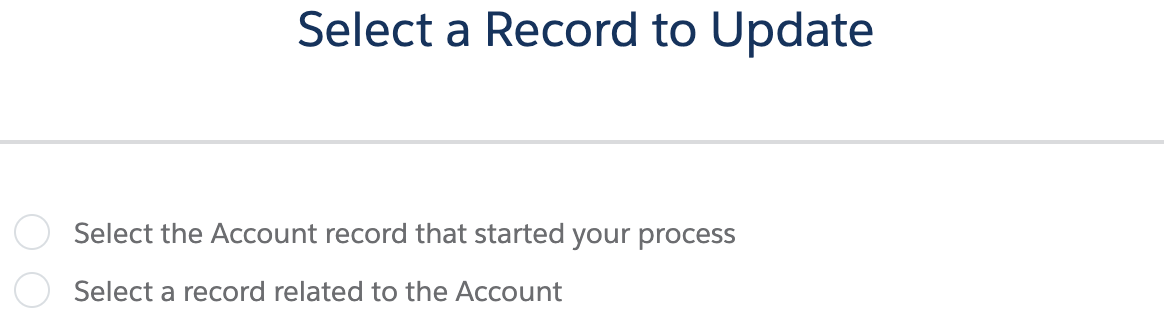 Criteria for Updating Records